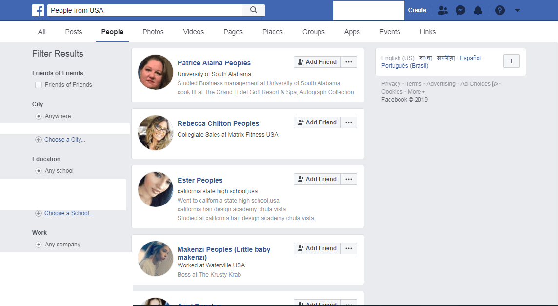 The A – Z Guide of Facebook Graph Search 5