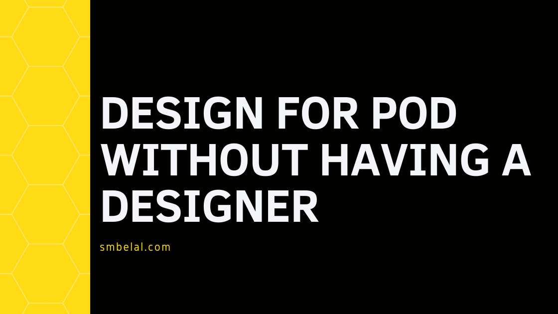 Design for POD without having a designer